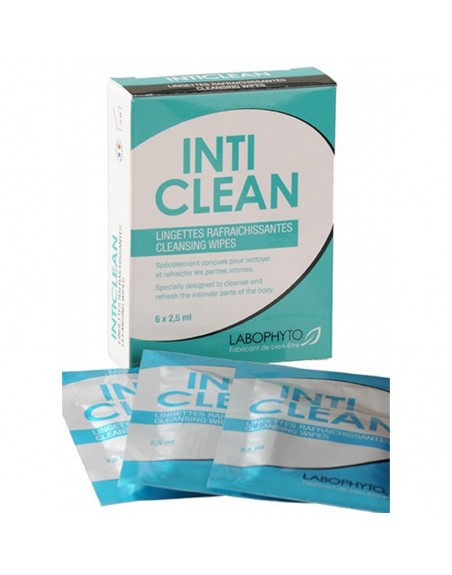 6 lingettes nettoyantes IntiClean