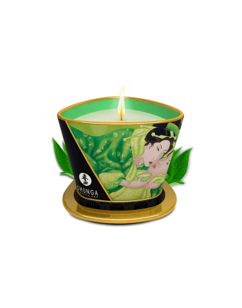 Bougie de massage lueur et caresses - Thé vert exotique