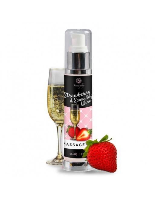 Huile de massage Fraise et Vin pétillant 3683 - 50 ml