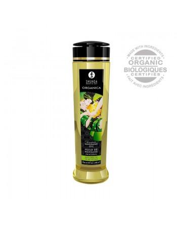 Huile de massage organique - Thé vert - 240 ml