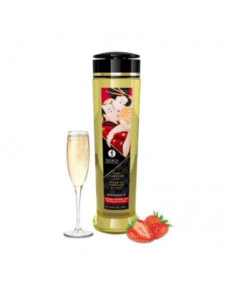 Huile de massage érotique - Romance - Vin pétillant fraise - 240 ml