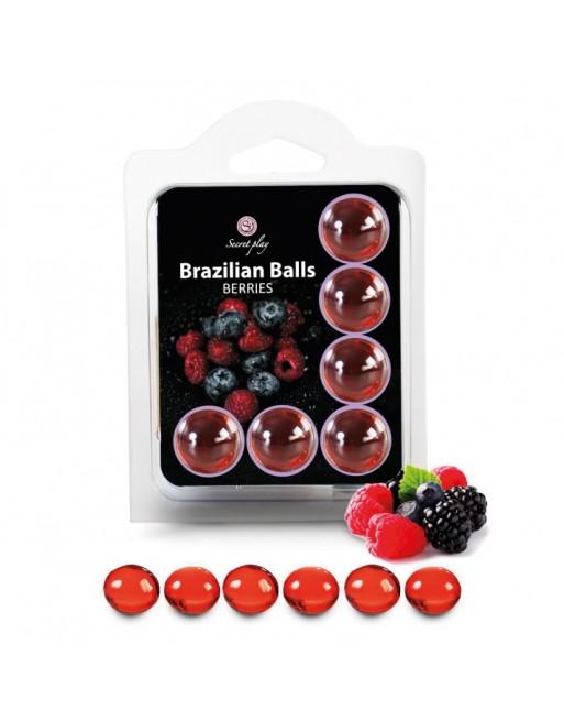 6 Brazilian Balls Fruits des bois 3386-5