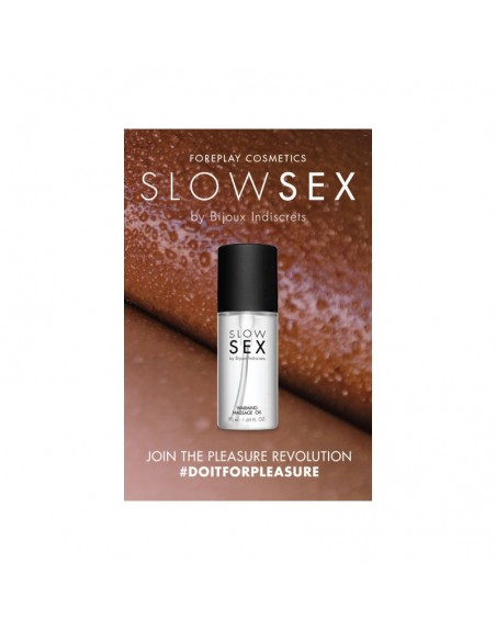 Huile de massage chauffante - Slowsex - 50 ml