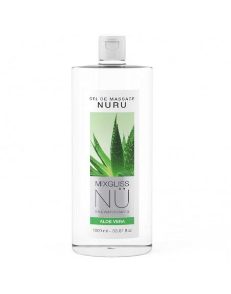 Mixgliss Gel de massage - NU Aloe Vera - 1000 ml