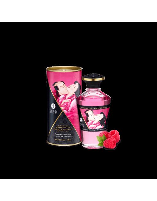 Huile chauffante aphrodisiaque - Framboise 100ml