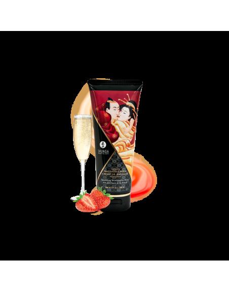 Crème de Massage délectable - Vin pétillant à la fraise