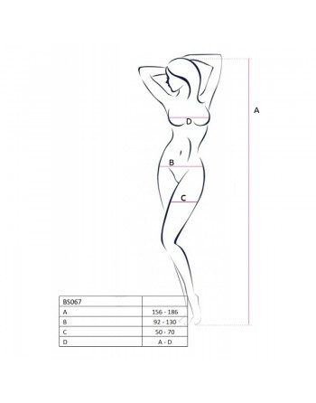 BS067R Bodystocking - Rouge