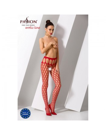 S021R Collants ouverts - Rouge