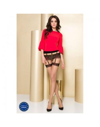 TI103 Collants 20 DEN - Nude et Rouge