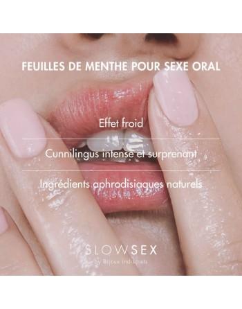 Feuilles de menthe pour sexe oral - Slow Sex - 7 unités