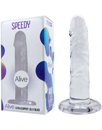 Gode dildo Réaliste Transparent Speedy - 16,5 cm- l'avenue des plaisirs