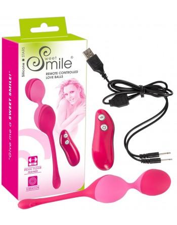 Boules de Geisha Rechargeables Télécommandées Smile- l'avenue des plaisirs