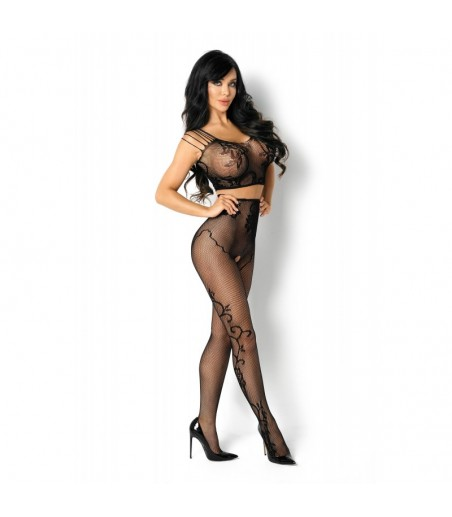 Valeria Bodystocking - Black