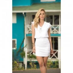Robe Style 4917 - Blanc