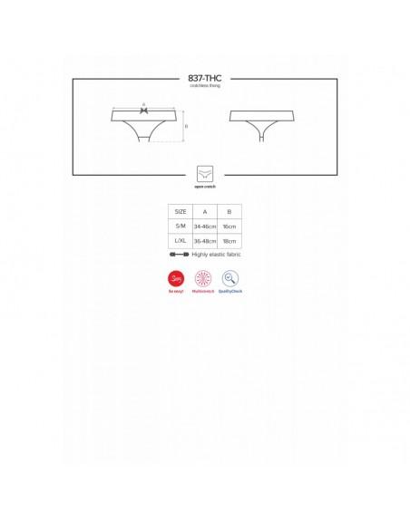 837-THC-1 String Ouvert - Noir