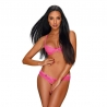 Alabastra crotchless and cupless 2 pcs Set - Pink
