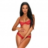 Alabastra crotchless and cupless 2 pcs Set - Red
