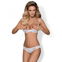 Alabastra crotchless and cupless 2 pcs Set - White