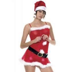 Robe de mère Noël avec ceinture et bonnet / lavenuedesplaisirs.com