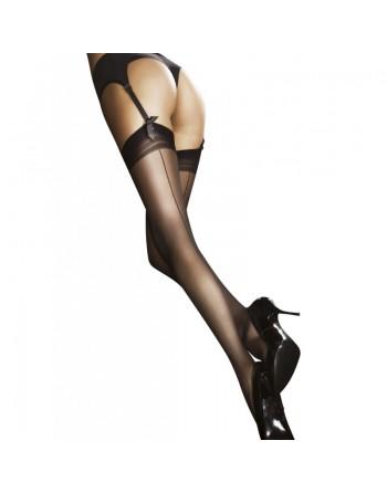 lingerie sexy  marlena bas20 den  blanc fiore- l'avenue des plaisirs