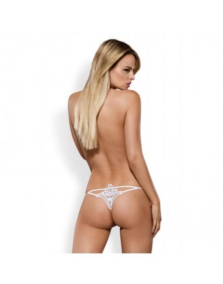 luiza string sexy blanc broderie à l'arrière obssessive