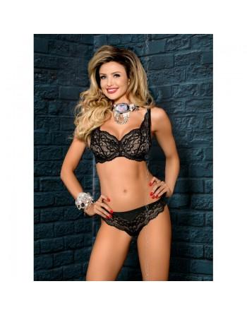 lingerie : soutiengorge push noir axami zaina v7601- l'avenue des plaisirs