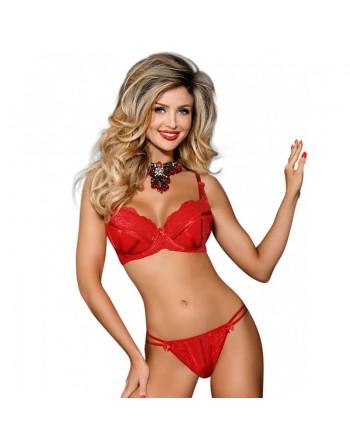 lingerie : soutiengorge rouge axami v7501 karida- l'avenue des plaisirs