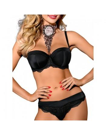 lingerie : soutiengorge noir axami v7561 nadia- l'avenue des plaisirs