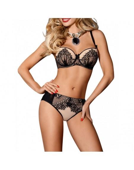 lingerie : soutiengorge beige axami v7611 sabira- l'avenue des plaisirs