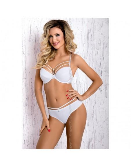 lingerie axami :  v-7711 briza soutiengorge pushup blanc bijoux- l'avenue des plaisirs
