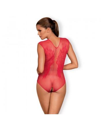 Le body rouge sexy ouvert de la marque obssessive