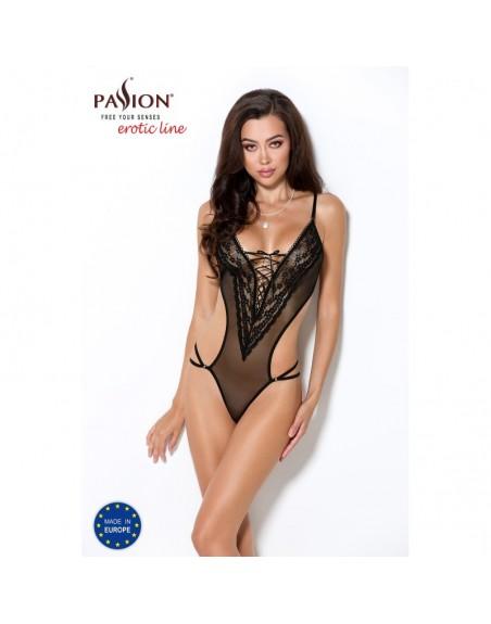 sublime body erza noir tulle transparent laçage passion- l'avenue des plaisirs