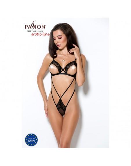 body diabolina noir tulle transparent de la marque passion- l'avenue des plaisirs