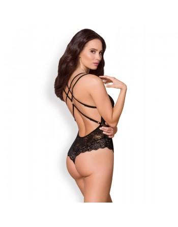 860TED1 somptueux body noir en dentelle fine obsessive lingerie Did2Fit - l'avenue des plaisirs