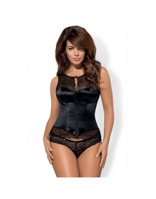 Obssessive miamor corset noir grande taille-l'avenue des plaisirs