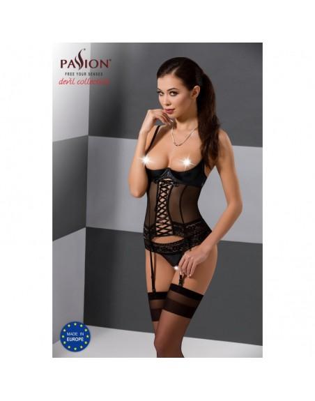 guêpière north noire de la marque de lingerie sexy passion-l'avenue des plaisirs