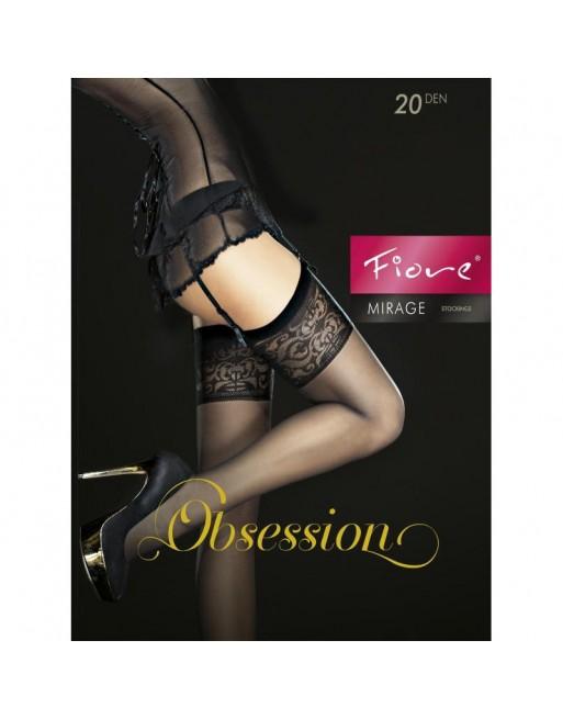 mirage bas 20 den noir sexy séduisant renforcement aux orteils  parfaite finition fiore- l'avenue des paradis