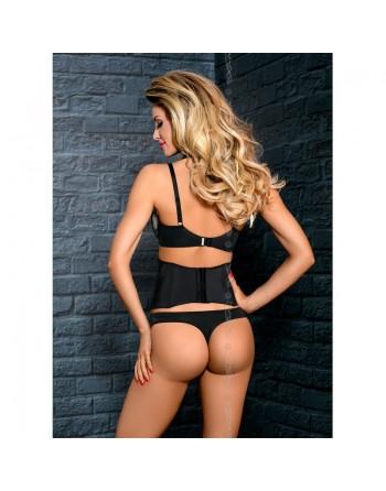 axami salma soutiengorge noir transparence fond beige pushup balconnet  v7671-l'avenue des plaisirs