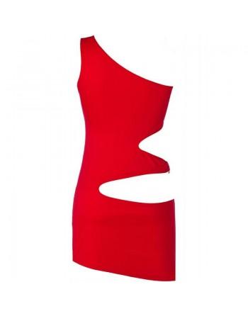V-9249 Robe - Rouge