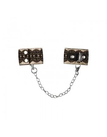 A746 Menottes avec chaine - Noir