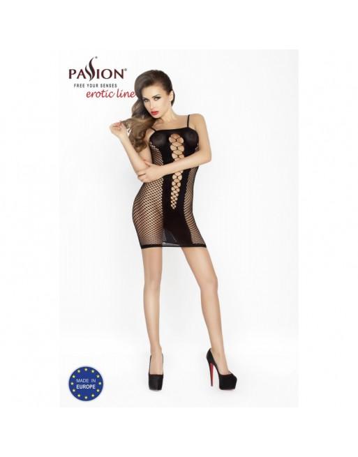 robe noir et sexy bs027 de la marque passion lingerie taille unique - l'avenue des plaisirs
