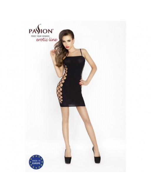 bodystocking mini robe noir et sexy bs026 de la marque passion lingerie- l'avenue des paradis