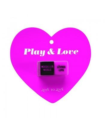 Dés Play et love - Rose et Noir