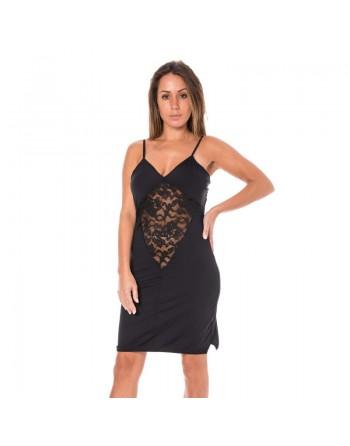 lingerie look me dress robe cocktail dentelle transparence noire S/XXL