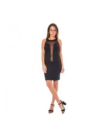 look me dress robe cocktail sexy glamour dos et décolleté filet  noire résille S/XXL