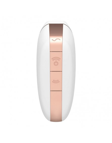 Stimulateur connecté Satisfyer Love Triangle - Blanc et Or