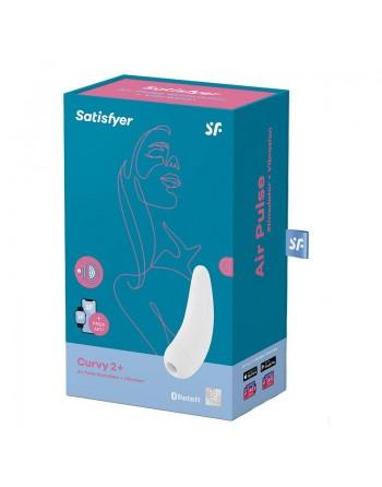 Stimulateur connecté Satisfyer Curvy 2 - Blanc