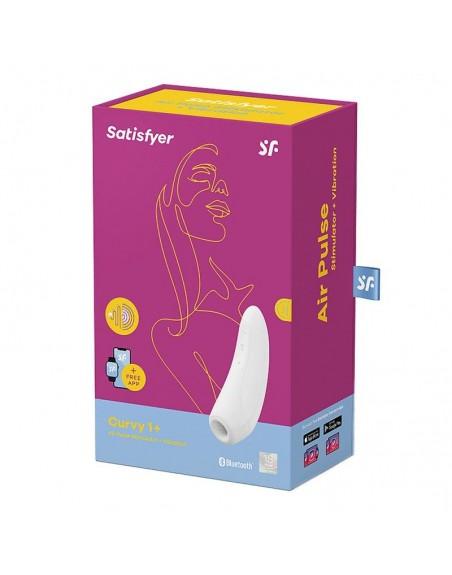 Stimulateur connecté Satisfyer Curvy 1 - Blanc